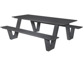 Outdoor Living Picknicktafel Breeze Antraciet Grijs
